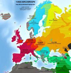 Native European Haplogroups Map
