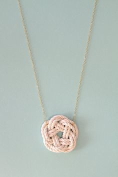 sailor knot necklace by sea and cake