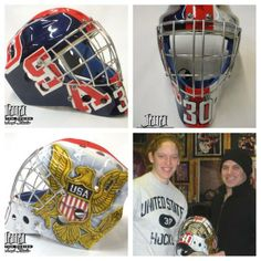 Now THAT's USA pride! BC Eagle Molly Schaus' goalie mask