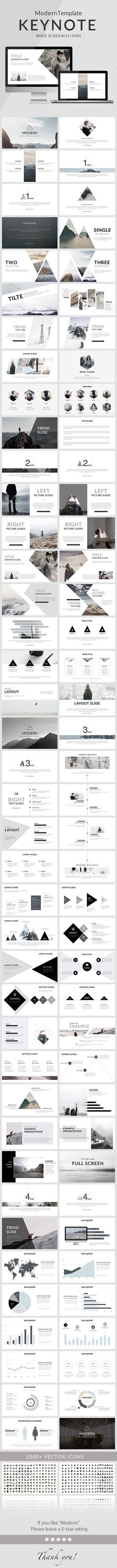 Modern - Clean trend Keynote Template