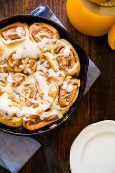 Cherry-Glazed Chocolate Almond Cinnamon Rolls are a new Sunday brunch favorite!