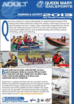 learn to sail - The Adult training guide at Queen Mary Sailing Club, West London