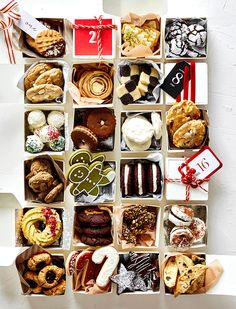 Break Out Of Your Baking Rut with 24 Delicious Cookie Recipes (Williams-Sonoma Taste) Best Holiday Cookies, Holiday Cookie Recipes, Xmas Cookies, Best Cookie Recipes, Yummy Cookies, Holiday Baking, Christmas Cookie Boxes, Christmas Cookie Exchange, Christmas Sweets