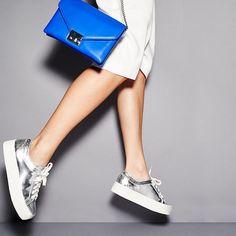 Loeffler Randall Miko Platform Sneakers, Loeffler Randall Junior Lock Clutch