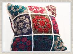 HECHO por encargo - ganchillo, hecho a mano, almohada, abuela plazas, decoración del hogar, sofá accesorios, almohadas decorativas, regalo