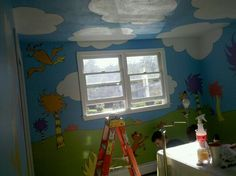 The kids room. My husband is amazing.