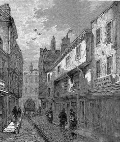 Saffron Hill, Clerkenwell https://mprobb.files.wordpress.com/2010/11/saffronhilllondon1860.jpg