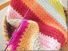Crochet Linen Stitch {also known as the woven stitch} -- pretty and simple -- sc, ch 1. Work opposite on next row.