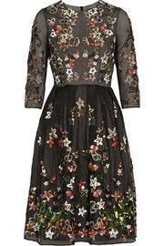 Needle & Thread Orchard sequin-embellished silk-organza dress