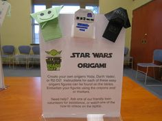 Kids' Bibliotheque: Star Wars Reads Day - C Programming - Ideas of C Programming - Kids' Bibliotheque: Star Wars Reads Day Theme Star Wars, Star Wars Day, Teen Library, Library Ideas, Star Wars Classroom, Star Wars Origami, Star Wars Crafts, Library Events, Library Activities