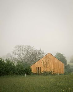 Image 21 of 21 from gallery of Maison Simon / Mathieu Noël & Élodie Bonnefous architectes. Residential Architecture, Contemporary Architecture, Drawing Architecture, Wood Architecture, Exterior Siding, Interior And Exterior, Interior Design, Old Houses, Wooden Houses