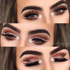 Last look at the Reversed ombré cut crease All shadows - #anastasiabeverlyhills Modern Renaissance palette @anastasiabeverlyhills dipbrow pomade in medium brown @classylashesuk party girl lashes- use code Abby10 for 10% off