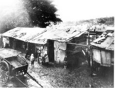 The slums of Sydney, long neglected, came under special scrutiny in 1900 when Sydney was hit by an outbreak of bubonic plague killing more than 100 people (Source: Sydney Town, Oxford Street, Largest Countries, Historical Images, Slums, Historical Architecture, Sydney Australia, City Streets, Continents, Old Photos