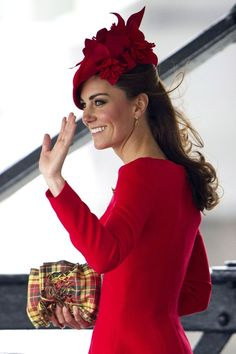 Catherine, Duchess of Cambridge arrives to board the Spirit of Chartwell during the Diamond Jubilee Pageant on the River Thames during the Diamond Jubilee Thames River Pageant on June 3, 2012 in London, England.
