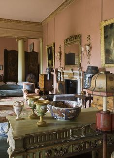 Drawing Room at Mount Stewart Decor, Country House Interior, Classic Living Room, British Interior, Decor Design, Beautiful Interiors, Drawing Room, English Country House, English Interior