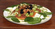 Heart-healthy recipe — grilled vegetables with walnut sauce #Fitness  #Healthyrecipes
