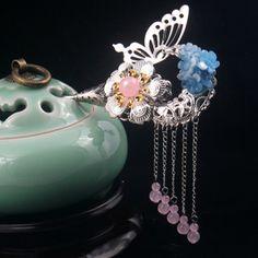 包郵複古宮廷花朵發簪 流蘇步搖古典頭飾 女 雙面風簪子古裝配飾-淘寶台灣,萬能的淘寶