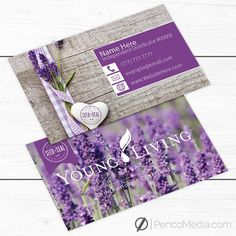 Custom Young Living Business Card Design #3