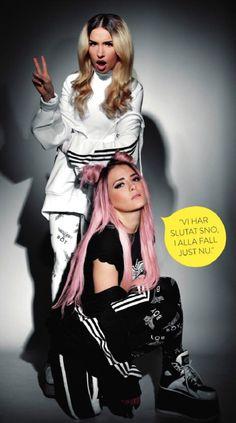 Rebecca and Fiona. Hair heaven