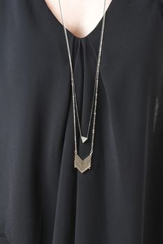 Arrow And Triangle Necklace