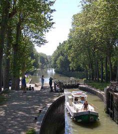 Canal du Midi, Castelnaudary www.audetourisme.com