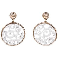 Mattioli Rose Gold Galatite Siriana Earrings | From a unique collection of vintage drop-earrings at https://www.1stdibs.com/jewelry/earrings/drop-earrings/