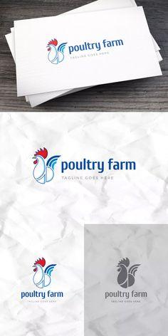 Poultry Farm Logo Template AI, EPS