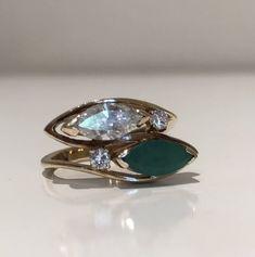 Emerald & Diamond Ring £680