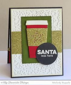 Gifting Fun, Coffee Cup Die-namics, Horizontal Stitched Strips Die-namics, Snowflake Fusion Cover-Up Die-namics, Stitched Circle STAX Die-namics, Stitched Rectangle STAX Die-namics - Melody Rupple #mftstamps