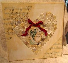 Altered Art Canvas 2 by jessicaluvs2stamp - Cards and Paper Crafts at Splitcoaststampers