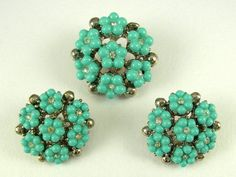 Turquoise Vintage Buttons