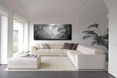 White and clean contemporary living room