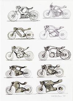 ArtStation - 82 original - 2016 and Inktober sketches for sale! Pyssla Pokemon, Scott Robertson, Electric Bike Kits, Bike Drawing, Bike Sketch, Motorbike Design, Manga Drawing Tutorials, Concept Motorcycles, Futuristic Motorcycle