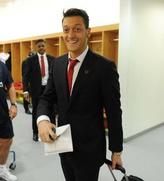 Ozil in the Arsenal Changing room at the emirates 2/11/2013