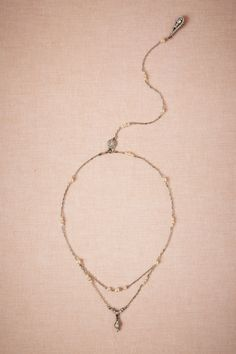 Draped back necklace #weddingtrend