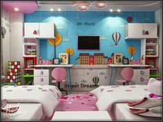 That's a cute bedroom