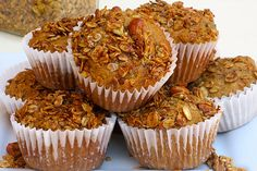 Want to enjoy muffins without the guilt? Our carrot and zucchini muffins are made with whole grains, which contain fiber that keeps the heart and digestive tract healthy, and aids in weight management. Healthy Muffins, Healthy Treats, Healthy Recipes, Zucchini Muffins, Clean Recipes, Vegan Muffins, Peanut Recipes, Meatless Recipes, Healthy Breakfasts