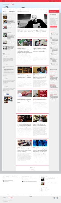 Nueva web para nuestro cliente Legalteam.  Basada en wordpress. Diseño responsive.  2014. Diseño y programación de Artimaña - www.artinet.net Wordpress, Website