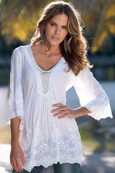 boho+peasant+tops | More like this: white blouses , white shirts and blouses .