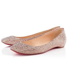 All You Need is Love And Christian Louboutin Gozul Strass Ballerinas Nude DFD!