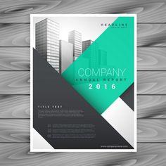 современный шаблон презентации чистый бизнес брошюра Бесплатные векторы