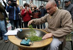 Longjing, or Dragon Well, tea, is grown in Hangzhou, Zhejiang province, and is believed to have been introduced to the country by the Buddhist monks of Fajing Temple. http://www.chinabevnews.com/2015/04/steeping-leaves.html
