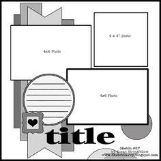 More layout ideas!  Get scrapbooking supplies at Flower Factory www.flowerfactory.com