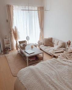 Room Design Bedroom, Room Ideas Bedroom, Home Room Design, Small Room Bedroom, Home Decor Bedroom, Small Room Interior, Small Apartment Bedrooms, Korean Bedroom Ideas, Minimalist Room