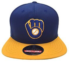 84b2d7173a6 Milwaukee Brewers Flat Brim Hats Hat World