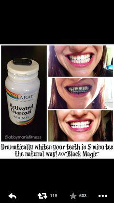 Whiten teeth...
