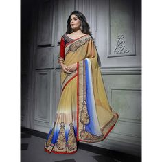 http://www.thatsend.com/shopping/lp/fvp/TESG204368/i/TE267442/iu/ivory-georgette-traditional-saree  Ivory Georgette Traditional Saree Apparel Pattern Embroidered. Work Embroidery, Border Lace. Blouse Piece Yes. Occasion Festive, Diwali. Top Color Blue.