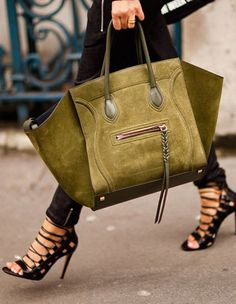Street style for Fall Chic.,.Céline and strappy sandals