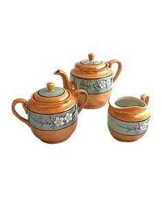 Antique Lustreware Tea Serving Set 1920-1930's -  Made in Japan Hand Painted Lusterware Porcelain Teapot Sugar Bowl Creamer Cherry Blossoms by DerBayzVintage https://www.etsy.com/listing/277277644/antique-lustreware-tea-serving-set-1920?ref=rss #EtsyHunter, #EtsyUSA, #Etsyprepromo, #ShopEtsy, #EtsyFinds, #EtsyForAll, #EtsyShopOwner, #EtsyStore, #EtsySale, #EtsyLove. #EtsyVintage, #instadecor, #instashop, #kitsch, #shabbychic, #shoplocal, #vintageforsale, #vintagehome, #vintagelook, #..