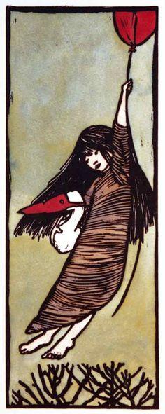 """windypoplarsroom:  Ilse Van Garderen """"Girl with Balloon"""""""